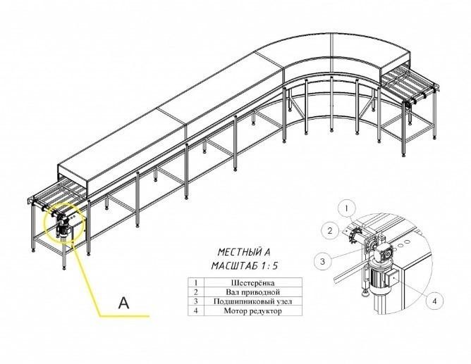 Проектирование конвейерного оборудования цепь скребкового конвейера